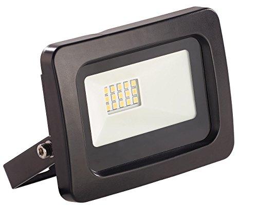 Luminea Aussenstrahler: Wetterfester Mini-LED-Fluter, 10 W, 800 lm, IP65, 3.000 K, warmweiß (Wasserfeste LED Fluter warmweiß)