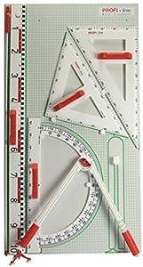WISSNER® 165102.000 - Juego de pizarras de Pared Profesionales IV con ángulos pequeños, Color Blanco