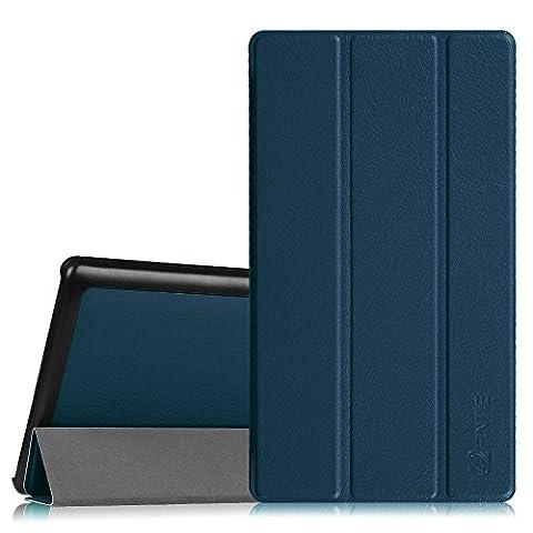 Fintie Lenovo Tab 2 A7-20 Hülle Case - Ultra Schlank superleicht Ständer Smart Shell Cover Schutzhülle Etui Tasche für Lenovo TAB 2 A7-20 17,8 cm (7 Zoll IPS) Tablet, Marineblau
