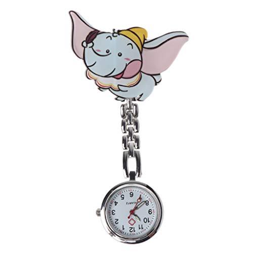 Portable Bar Fall (congchuaty Art- und Weisekrankenschwester-Uhr-Nette Karikatur-Elefant-Acryltaschen-medizinische Uhr-Geschenk-Dame Women Portable Doctor Supplies Convenient Clock)