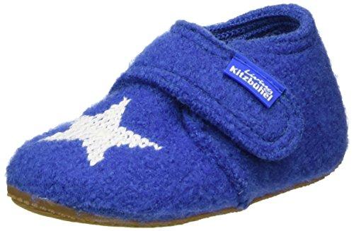 Living Kitzbühel Unisex Baby Babyklett. mit Sternenstick Hausschuhe, Blau (Victoria Blue 558), 24 EU (Schuhe Geboren Mädchen Kinder)