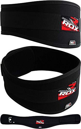 RDX Cintura Lombare in Neoprene per Sollevamento Pesi, Fitness, Allenamento, Pesistica, Bodybuilding, Nero, Taglia S (71 - 84 cm)