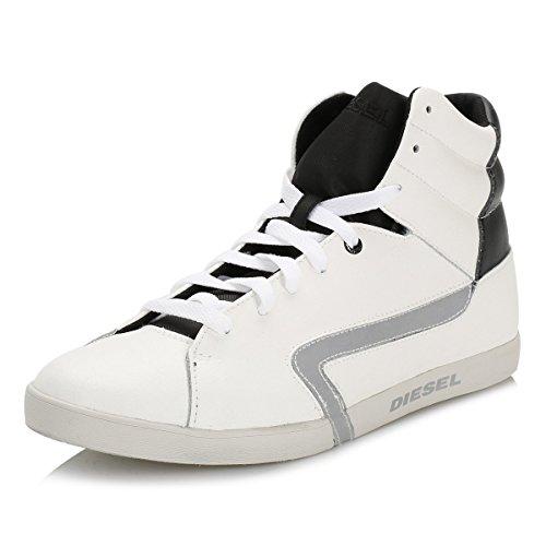 Diesel Uomo Bianco E-Klubb Hi Sneakers -UK 8