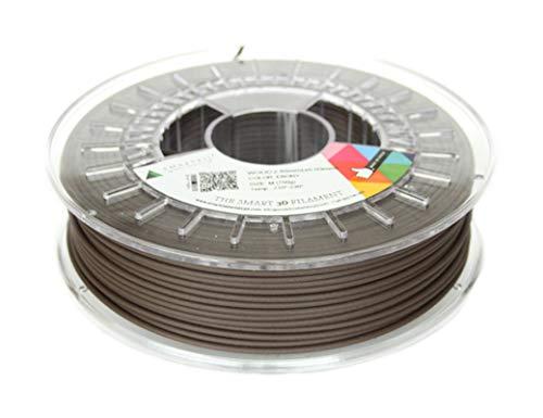 Smartfil SMWDOEBYB075 Filamento de PLA con Alto Porcentaje deMadera Natural, 2.85 mm, 750 g, Ébano