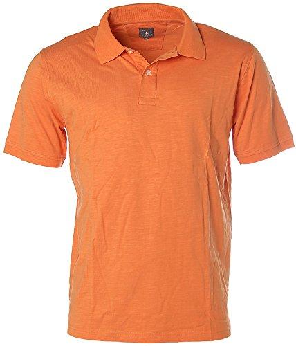 Kitaro Herren Kurzarm Shirt Poloshirt Polokragen Orange