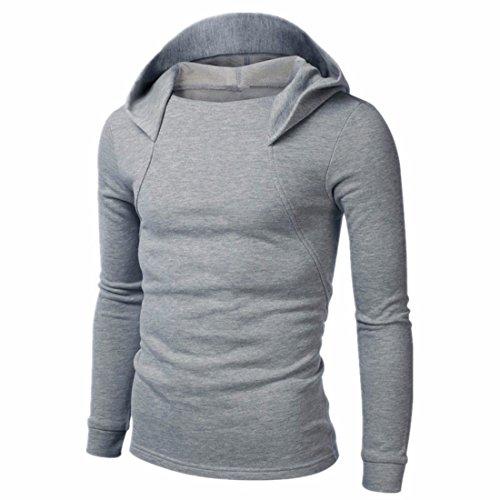 Homme Nouveau Design Décontracté Capuche Light Grey