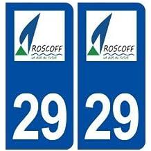 29 Roscoff logo autocollant plaque stickers ville - arrondis