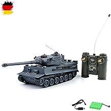 German Tiger I–Tanque teledirigido 2,4GHz 1/28Modelo, Tank, combate, disparos Simulación, sonido, Nuevo