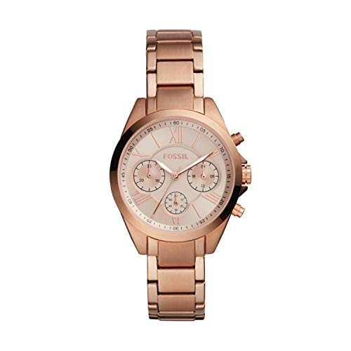 Fossil Rose Gold Dial Stainless Steel Women's Fashion Watch - BQ3036