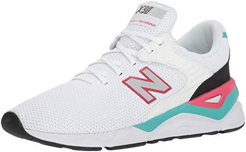 New Balance Herren X-90 Sneaker, Weiß (White/Pomegranate CRA), 43 EU
