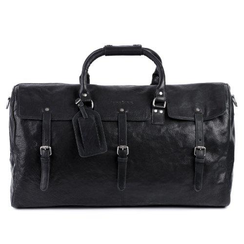 FEYNSINN Reisetasche PHOENIX - Weekender XL - Sporttasche echt Leder schwarz
