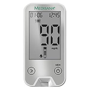 Medisana 79048 MediTouch 2 Blutzuckermessgerät inkl. Starterset, Datenübertragung per Bluetooth in die VitaDock+ App für eine kontrollierte Blutzucker-Überwachung bei Diabetes