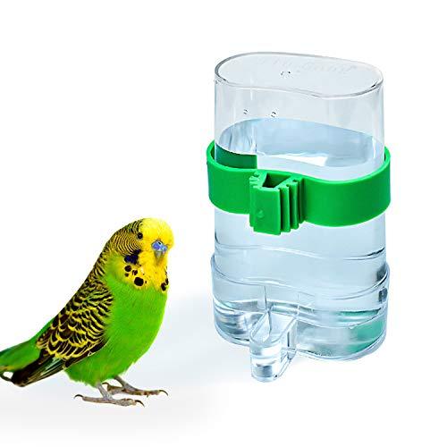 COCOCITY Futterspender Vogel Wasserspender Vogelkäfig Zubehör für Wellensittiche, Nymphensittiche, Papageien 7,5 x 3,2 x 13,4cm