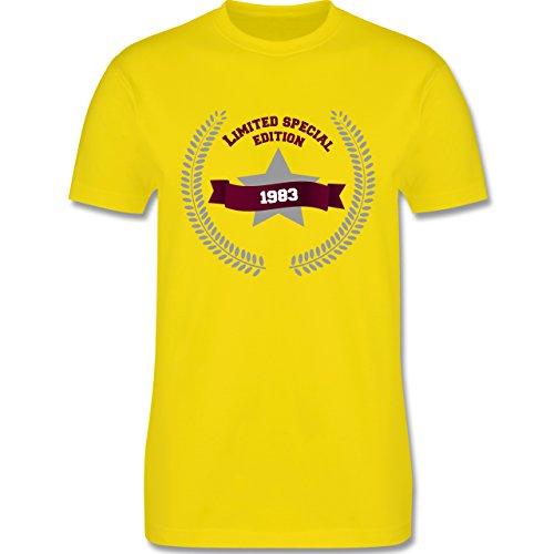 Geburtstag - 1983 Limited Special Edition - Herren Premium T-Shirt Lemon Gelb