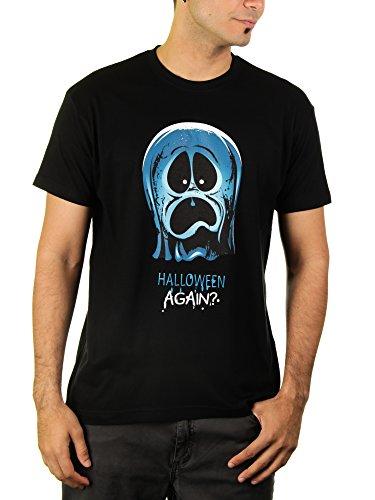 Halloween Again? - Herren T-Shirt von Kater Likoli, Gr. 3XL, Deep Black