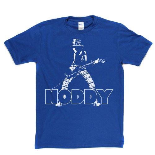 Noddy Holder T-shirt (royalblue/white large) (Band Flammen T-shirts Der)