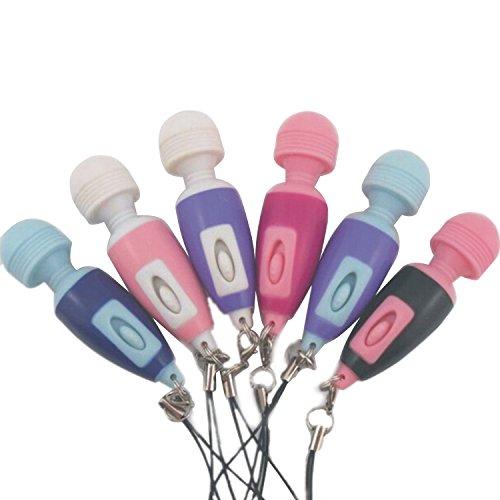 Persönliche Mini Portable vibrierende Stress Stick Körper Kopf Nacken Massagegerät Zauberstab Schlüsselanhänger Keychain zufällige Farbe Menge 1 Persönliche Massage-stick