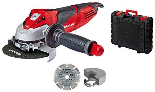 Einhell TE-125 Schleifer TE-AG 125/750 Kit (einschließlich BMC-Gehäuse), 750 W, 230 V, Rot (Ref. 4430885)