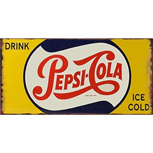 Easy Painter Blechschild Drink Pepsi-Cola, Vintage, für Bar, Pub, Zuhause, Wanddekoration, Retro-Metall-Kunstposter, 30,5 x 15,2 cm