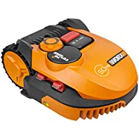 Worx WR115MI Landroid Rasen Mähroboter SO700i bis 700 m2, App Programmierung, Rasenkanten Mähfunktion, Multi Zonen Orange, 52.2 W, 240 V