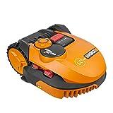 Worx Landroid Rasen Mähroboter SO700i bis 700 m2, App Programmierung, Rasenkanten Mähfunktion, Multi Zonen, WR115MI, Orange, 52.2 W, 240 V