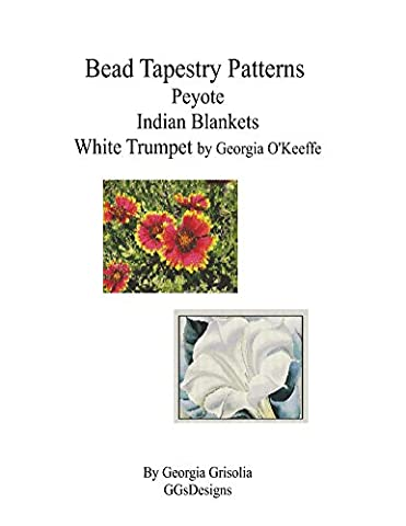 Bead Tapestry Patterns Peyote Indian Blankets White Trumpet by georgia o'keefe
