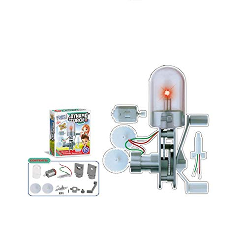 TuToy Dynamo Torch Motor Generator Green Educational Science Toy Experiment - Experiment Glühbirne