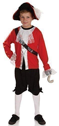 bboys 4Pirat Captain Buch Tag Woche Märchen Film Halloween Fancy Kleid Kostüm Outfit 4-12Jahre - Rot, 4-6 (Halloween Captain Hook Kostüme)