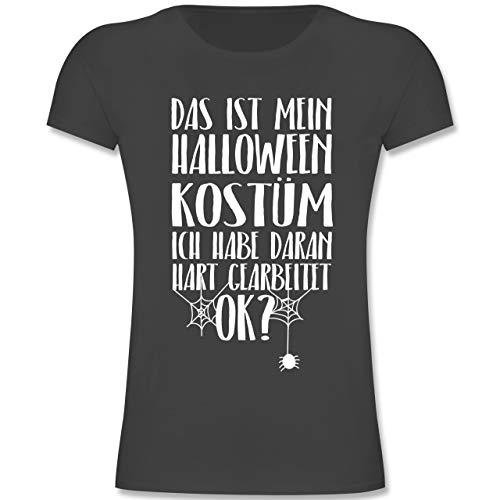 Anlässe Kinder - Das ist Mein Halloween Kostüm - 164 (14-15 Jahre) - Anthrazit - F131K - Mädchen Kinder T-Shirt