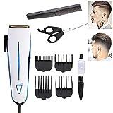 Rasoir électrique et tondeuse à barbe, Tondeuse à cheveux professionnelle, Coupe tondeuse Convient aux familles d'enfants adultes, Peigne 4 x professionnel homme