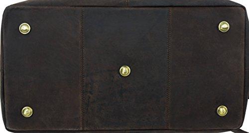 """Gusti Leder Studio """"Ruben"""" Bolso de Viaje de Cuero Interior Impermeable Bolsa de Deportes Equipaje de Mano Cabina Estilo Vintage Retro Unisex Piel Auténtica 2R1-20-4wp"""