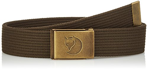 Fjällräven Herren Gürtel Canvas Brass Belt, Dark Olive, One Size, 77297-633