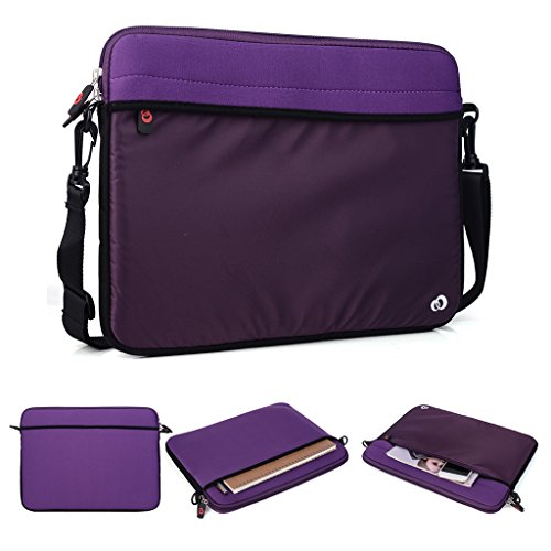 Kroo Tablet/Laptop Hülle Sleeve Case mit Schultergurt für Dell Latitude 12E5250 violett violett