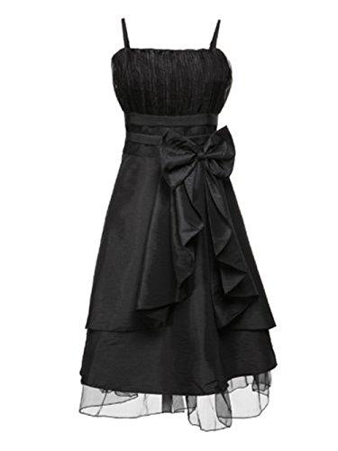 PLAER femmes Big arc demoiselle d'honneur robe soirée de fête robe cocktail sexy robe Noir