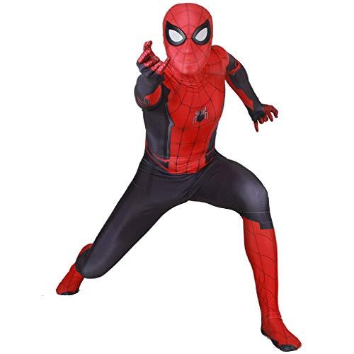 XaCxx Erwachsene Spiderman Kostüm Bodysuit-Overall Männer Far from Home Cosplay Schwarz Separate (Weibliche Superhelden Mit Schwarzen Kostüm)