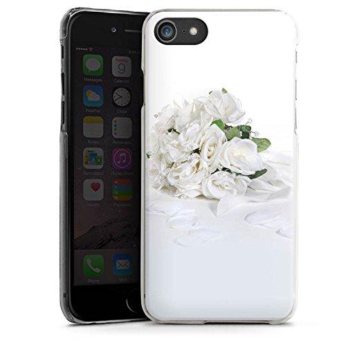 Apple iPhone X Silikon Hülle Case Schutzhülle Rosenstrauss Hochzeitsstrauss Rosenblätter Hard Case transparent