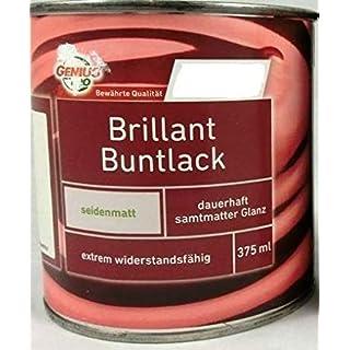Genius Pro Brillant Buntlack, silbergrau RAL 7001 / seidenmatt / 2,5 l/Alkydharzlack (auf Lösemittelbasis) / extrem widerstandsfähig/Ideal geeignet für innen u. außen