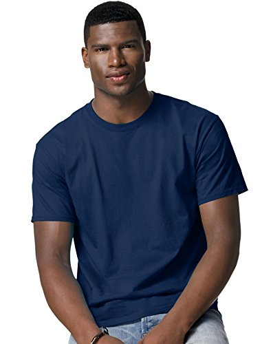 Hanes Comfort Blend Cotton Poly T-Shirt Blau - Navy