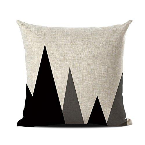 JOTOM Funda de cojín,Serie geométrica de la Flecha del Funda de Almohada Decorativa Funda de Almohada sofá Cuadrado Decorativo 45x45cm (Montaña Negra)