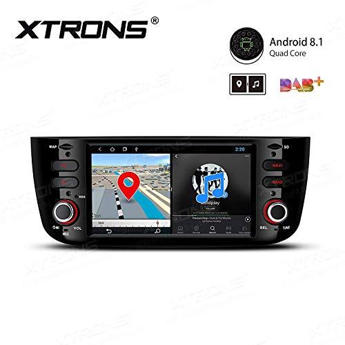 "XTRONS 6,2\"" Android Autoradio mit Touchscreen Android 8.1 Quad Core Multimedia Player Autostereo 4G WiFi Full RCA Ausgang Bluetooth5.0 Lenkradfernbedienung 16GB ROM DAB OBD2 FÜR FIAT"