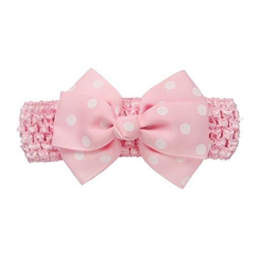 Stirnbänder Longra Mädchen die Vergoldung Stirnbänder Bowknot Haarschmuck für Mädchen Kinder Haarband (0-4 Jahre ) (Pink)