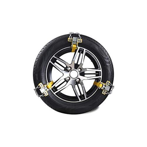 happygirr Universal Schneeketten Snow Chains Anfahrhilfe Anti Skid Nail Auto Snow Tire Ketten für Auto SUV LKW mit 165-285mm Reifen Breite
