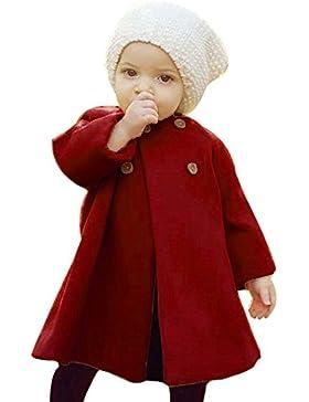 Bebé-niñas Otoño Invierno Abrigos, Covermason Botón Decoración Largo Chaqueta para 0-5 Años
