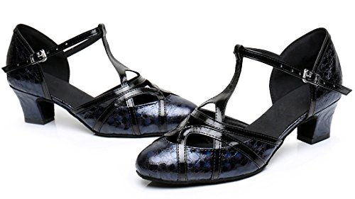 F&M Fashion - Sandali con Zeppa donna 5cm Printing Black