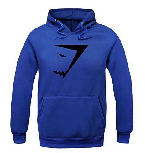 Men's Fashion Shark Sweatshirts Casual Sweatshirts blue black