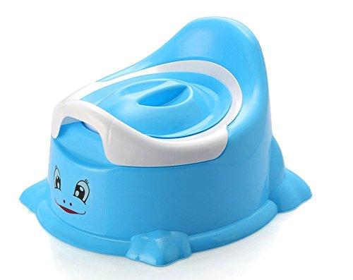 Sockel Training (Vi.yo Baby Töpfchen Stuhl Smart Töpfchen Spaß Toiletten Training Sitz mit abnehmbarem Topf für Baby Jungen und Mädchen (Blau))