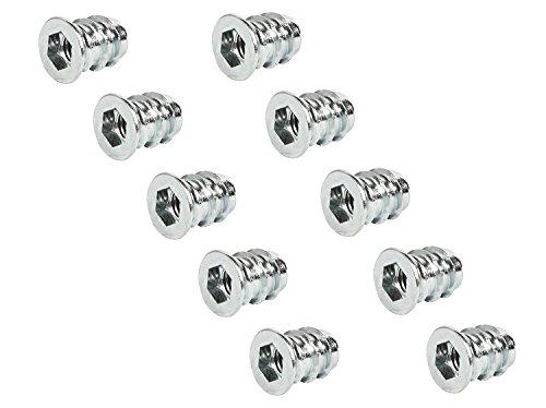 100x GedoTec® PROFI Einschraubmuffen Eindrehmuffe mit Abdeckrand   M8 x 17 mm   Einschraubmutter Stahl verzinkt   Antrieb: Innensechskant   Markenqualität für Ihren Wohnbereich