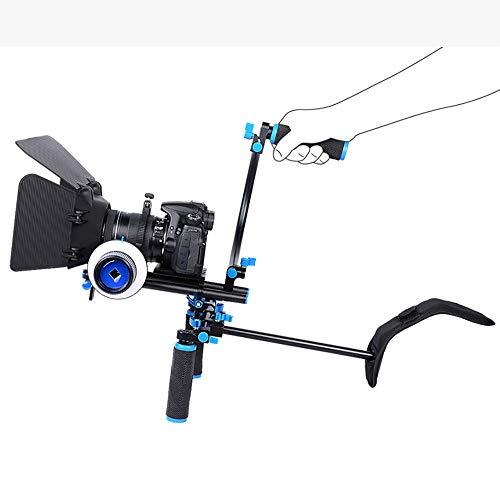 LFTS SLR-Kamera Käfig Käfige professionelle Fotografen Schultern einschließlich C-förmige Halterung Griff 15 mm Stab Matte Box Follow Focus für Kamerasystem Kit Video Production System -