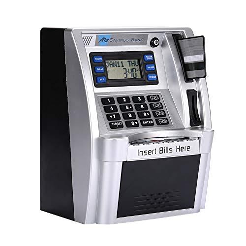 Hanbaili Geldautomaten Geldautomaten Kreative with Silber Mit LCD-Bildschirm Sprachansage Kinder