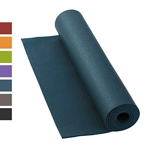 Yogamatte RISHIKESH PREMIUM 80 XL, rutschfest, groß & extra-stark, 4,5mm Studiomatte, Ökotex 100, maschinenwaschbar, lang: 200 x 80 cm (blau)